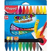 MAPED 24 Color Peps Triangular Oil Pastels (Box-12)
