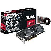 Asus Radeon RX580 DUAL OC 4GB DDR5 DVI 2 HDMI 2 DP 1380MHz Clock 0dB Tech VR Ready