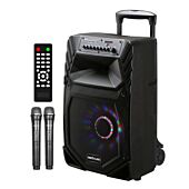 Astrum TM125 60W Smart Trolley Multimedia Speaker + App / Tweeters / BT / USB / TF / FM Black