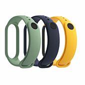Xiaomi Mi Smart Band 5 Matte Straps - Navy Blue   Yellow   Mint Green