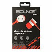 Bounce Salsa Series Bluetooth Aluminium Body Earphone - Red/Black
