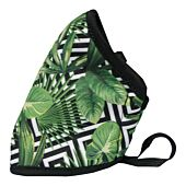Clinic Gear Anti-Microbial Printed Mask Ladies Leaves - Green