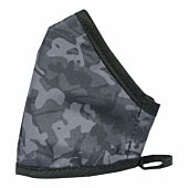 Clinic Gear Anti-Microbial Printed Mask Mens Cammo - Black and Grey