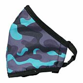 Clinic Gear Anti-Microbial Printed Mask Boys Cammo - Blue and Grey
