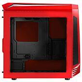 Bitfenix AEG-300-RKWN1 AEgis core - Red + Windowed + Icon Display