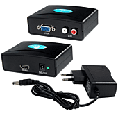 VGA + L + R RCA to HDMI Metal Casing