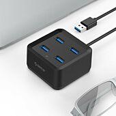Orico 4 Port USB3.0 Ultra-Mini Hub Black