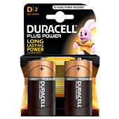 Duracell Plus D Size Blister Pack 2