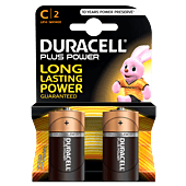 Duracell Plus C Size Blister Pack 2