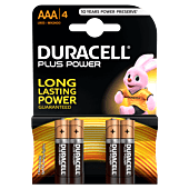 Duracell Plus AAA Blister Pack 4