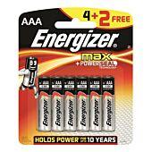 Energizer Alkaline Power AAA Blister Pack 4+2 Free