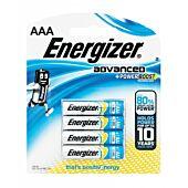 Energizer Advaned Range AAA Blister Pack 4