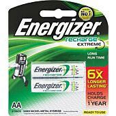 Energizer Recharge Extreme AA 2 Pack