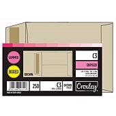 CROXLEY JD102B C3 Brown Gummed Envelopes - Unbanded (Box of 250)
