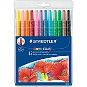STAEDTLER TWISTERS (RETRACTABLE) WAX CRAYONS 12's