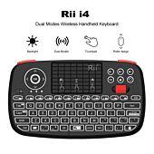 Rii Wireless QWERTY Backlit Gamepad Touchpad|Keyboard|Bumpers|Scroll Wheel Black