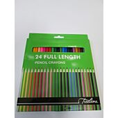 TREELINE PENCIL CRAYONS FULL LENGTH 24's