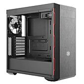 Cooler Master Masterbox MB600L ATX Sleek Brushed Black with Red Accent