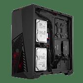 Cooler Master Masterbox K501L ATX Black Windowed Angular Front Ventilation Front 1x120mm Red LED Installed