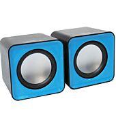 USB Mobiles Speaker Black and Blue Trim