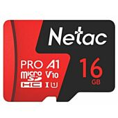 Netac P500 Extreme Pro 16GB Class 10 V10 U1 MicroSDHC Card & Adapter