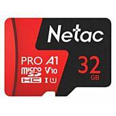 Netac P500 Extreme Pro 32GB Class 10 V10 U1 MicroSDHC Card & Adapter
