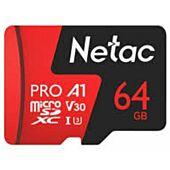 Netac P500 Extreme Pro 64GB Class 10 V10 U1 MicroSDXC Card & Adapter