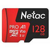 Netac P500 Extreme Pro 128GB Class 10 V10 U1 MicroSDXC Card & Adapter