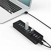Orico 10 Port 30W Additional Power USB3.0 Hub - Black