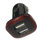 Pro Bass Activate Series Dual USB 2.1A Car Charger Packaged Black and Red