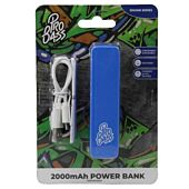 Pro Bass Engine series 2000mAh Powerbank- Blue