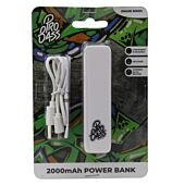 Pro Bass Engine series 2000mAh Powerbank- White