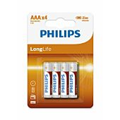 Philips LongLife R03L4B/97 4xAAA Battery Pack