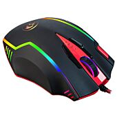 Redragon SAMSARA 2 12400PI 13 Button 180cm Cable Ergo-Design 8 Weights RGB Backlit Gaming Mouse - Black