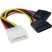 Power Cable Molex to 2 X SATA 10CM