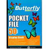 BUTTERFLY A4 50PG POCKET FILE