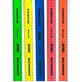STAEDTLER ASSORTED SHATTERPROOF RULERS