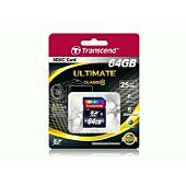 Transcend High Performance Secure Digital XC Class 10 Flash Memory - 64GB
