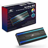 Vantec NST-207C3-RGB M.2 NVMe SSD to USB 3.1 Gen 2 Type C RGB Enclosure