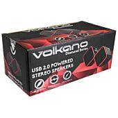 Volkano Diamond Series USB Powered Speakers Red
