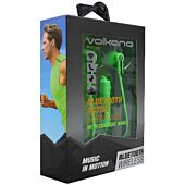Volkano Motion Bluetooth Earphones Green and Black