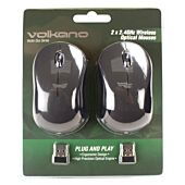 Volkano Vector Duo Pack of 2 Vector Wireless Mouse - Black