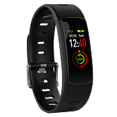 Volkano Breath Series IP67 Colour Fitness Band With Heart Rate Monitor, 2 Extra Straps