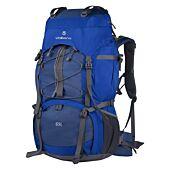Volkano Icepick 65L Hiking Backpack Blue