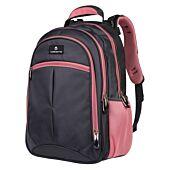 Volkano Orthopaedic Backpack 27L Dark Grey and Pink