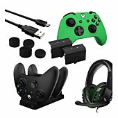 Sparkfox Player Pack 2xBattery Pack 1xCharge Cable 1xCharging Station 1xHeadset 1xStandard Thumb Grip Pack