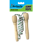 Butterfly Jumping Rope Wooden Handle