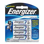 Energizer Lithium AA Blister Pack 4