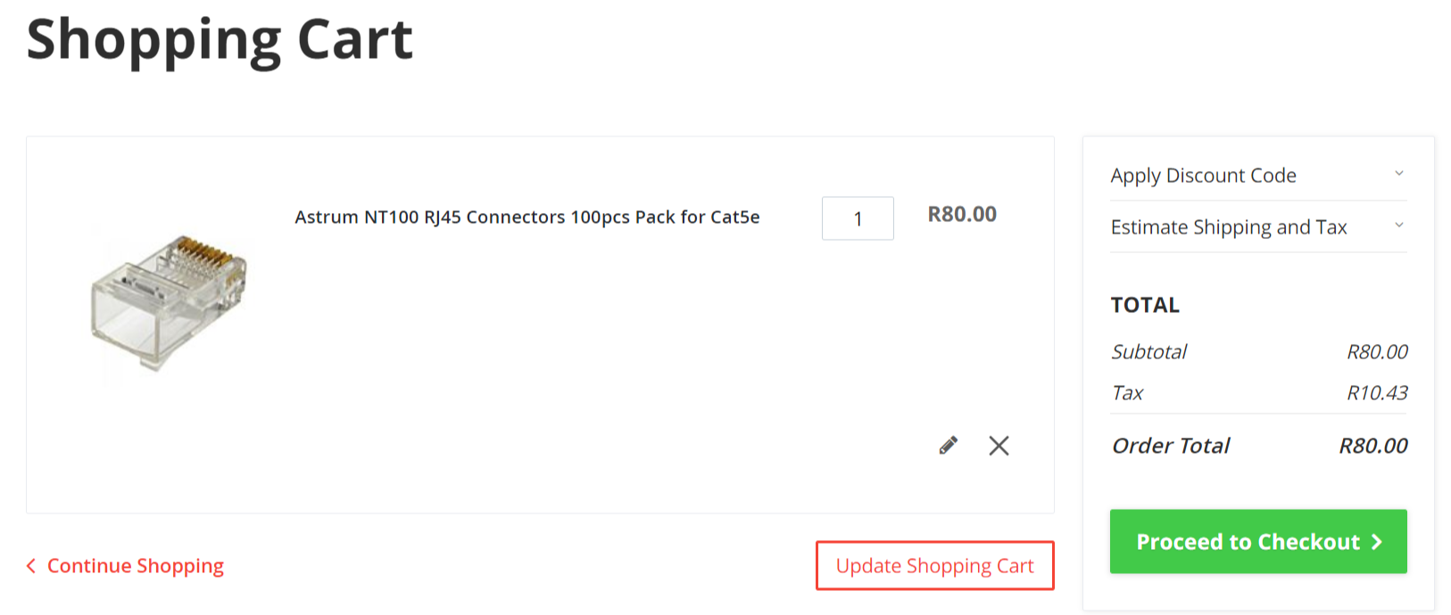 Shopping-Cart-Page